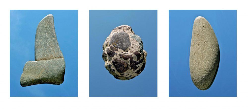 "Blue Stone Sky, Archival pigment print, Triptych, 15"" x 42.25"""